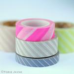 Diagonal stripe washi tape