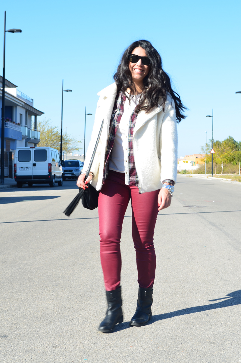 florenciablog total look burgundy inspiration burgundy look granate fieltro jacket cream jacket gandia españa bloggers (2)