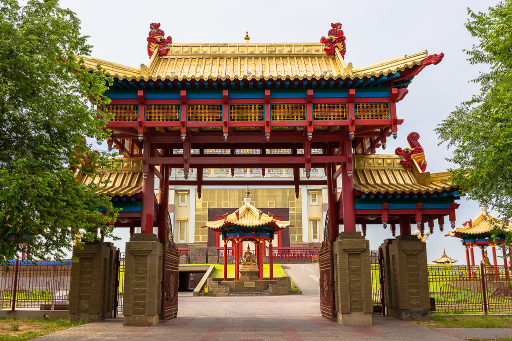Russia. 13.06.2009 Elista. The Golden Abode of the Buddha Shakyamuni-006