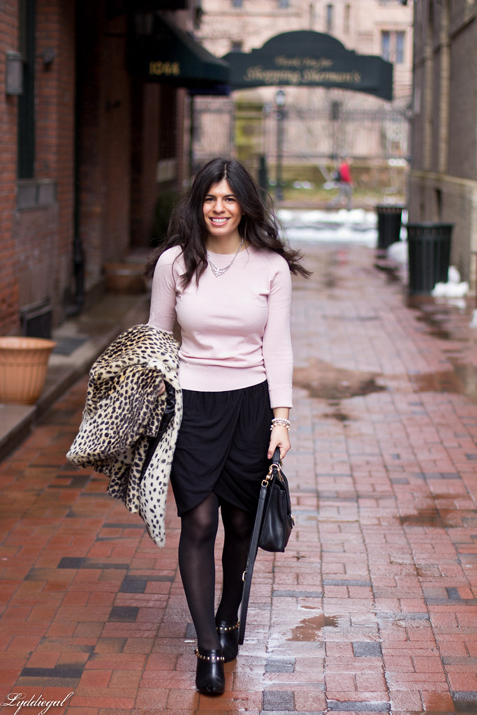 black tulip skirt, pastel pink sweater, leopard coat-3.jpg