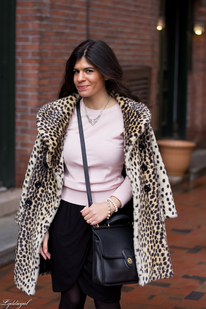 black tulip skirt, pastel pink sweater, leopard coat-6.jpg
