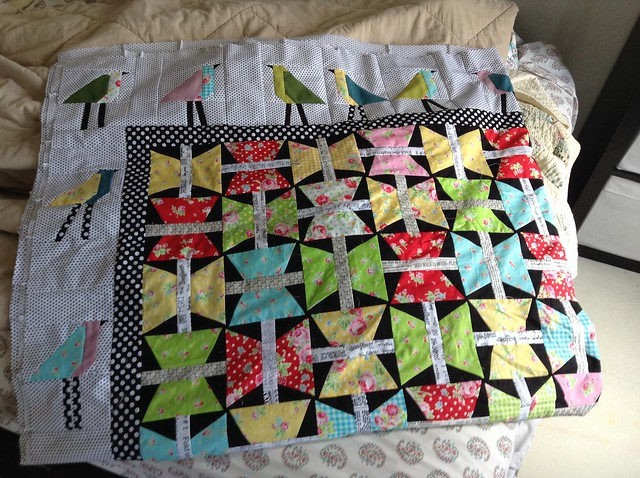 Completed 'The Birds And the Butterflies' quilt top!