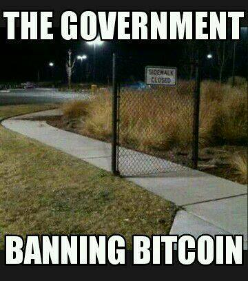 Government banning BTC picture