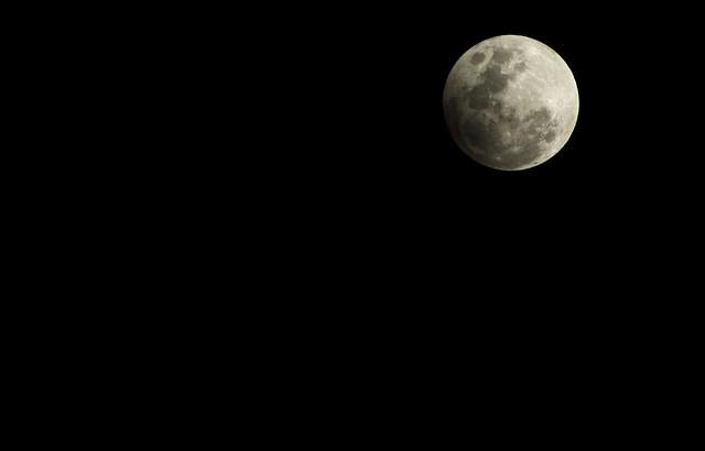 Eclipse penumbral. Febrero 10 de 2017.  Medellín, Colombia