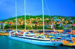 NathalieLauro, grafic art, digital art, colors, design, variations,boats, habor, sea, sun,  , Monaco, Monte Carlo, French Riviera, Cannes. Marseille, Corsica,Hambour, (98)