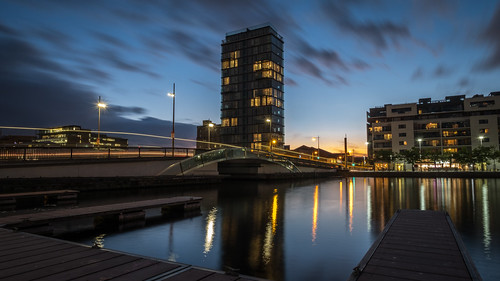 clouds grandcanal building sunset ireland architecture reflection dublin city cityscape dusk sky water light ringsend countydublin ie onsale