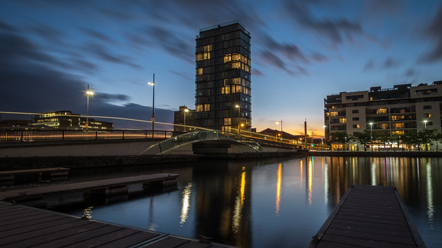 Grand Canal at sunset - Dublin, Ireland - Cityscape photography