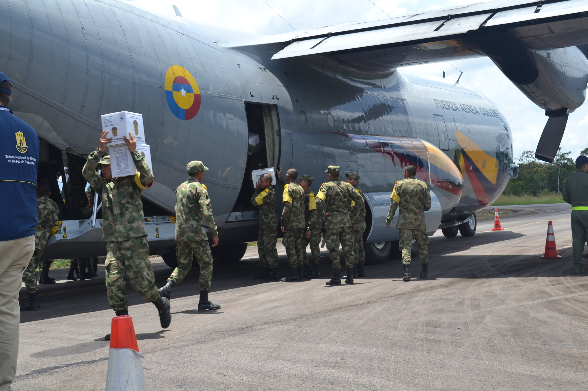 Traslado de asistencia humanitaria