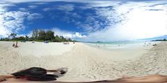 Kalama Beach in Kailua, Oahu, Hawaii - a 360 degree equirectangular VR