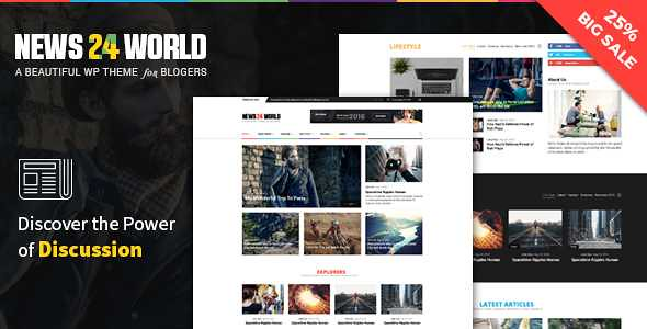 News24 WordPress Theme free download