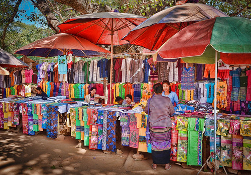 burma colours fabrics holidays lightroom markets mingun myanmar onestoptraveltours topazlabs