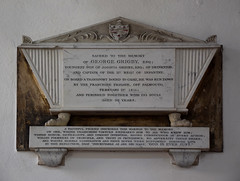 on board a transport bound for Cadiz, he was run down by the Franchise frigate off Falmouth and perished together with 233 souls