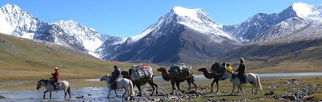 Unterwegs zum Basislager des Mount Khuiten.