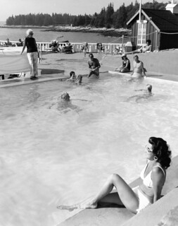 Spruce Point Inn Resort Pool 1960's