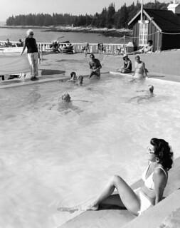 Spruce Point Inn Resort Pool 1960's