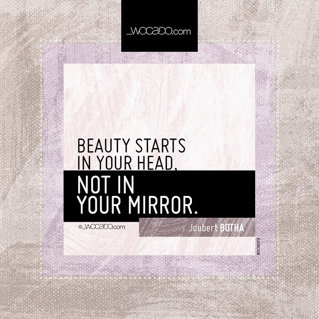 Beauty starts in your head by WOCADO.com