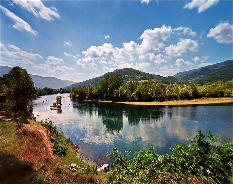 río Drina, Serbia