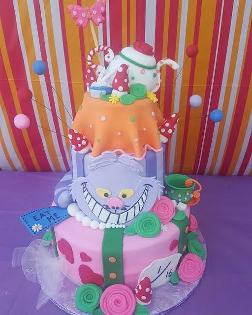 Alice in Wonderland Cake by Kathleen Graham of Kittys Cafe Bakery
