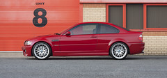 BMW E46 M3 Imola Red Side Shot