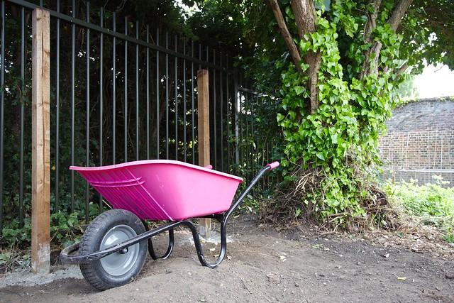 Wheelbarrow in Brockwell Park Community Greenhouses