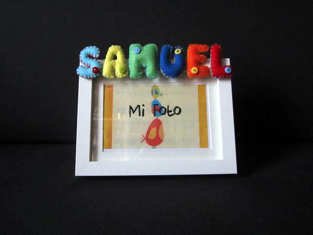 Marcos de fotos con nombre en Fieltro - ChikiPol - Samuel
