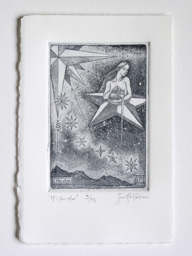 """17: The Star"" limited edition intaglio print"