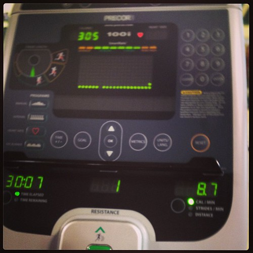 Woot! Made it past my trainer set goal of -300 cal plus I made it 30 min! #watchmedothis