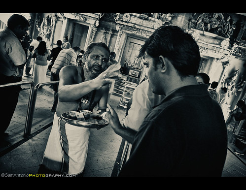 Feeling uncomfortable in a foreign country - Little India, Singapore by Sam Antonio Photography