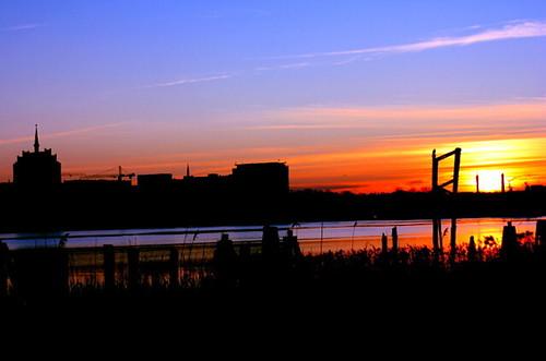 Sonnenuntergang in Rostock 06