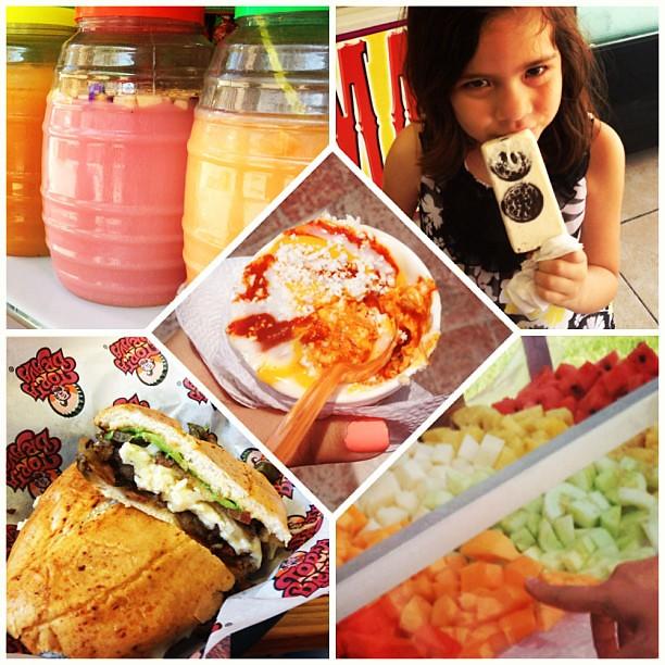 #Antojitos - paletas, fruta con limón y chile, tortas, aguas, elote en vaso... mmmmm! #Mexicanfood