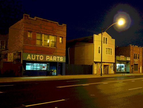 living above a former auto parts store (posterized)