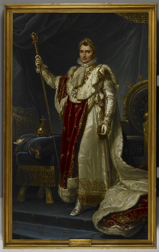 Napoleon portrait, 1813, by Jean Baptiste Borely (c) British Library Board