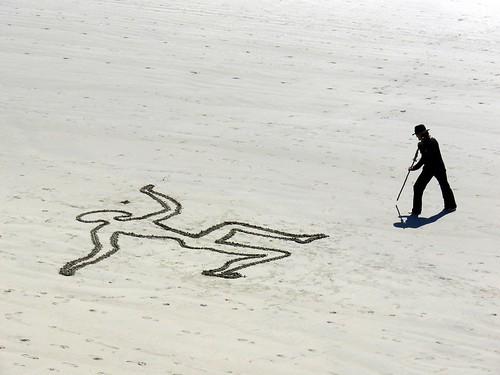 Sand  artist.