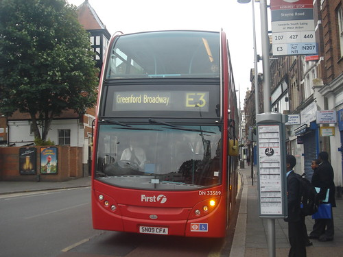 Metroline West DN33589 on Route E3, Acton