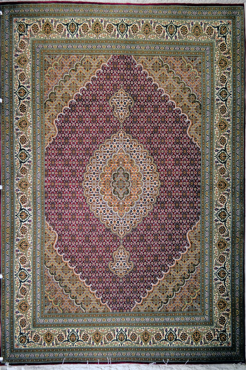 Tabriz Mahi Purple Unique Persian Area Rug 5x7