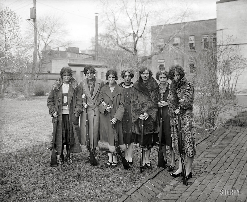 "1925 - ""Girls"" Rifle Team at Drexel Institute"