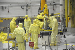 yellow, hazmat suit,