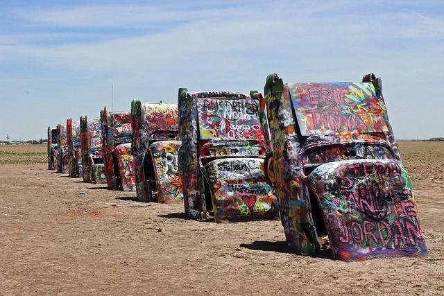 Cadillac Ranch in Texas from Flickr via Wylio