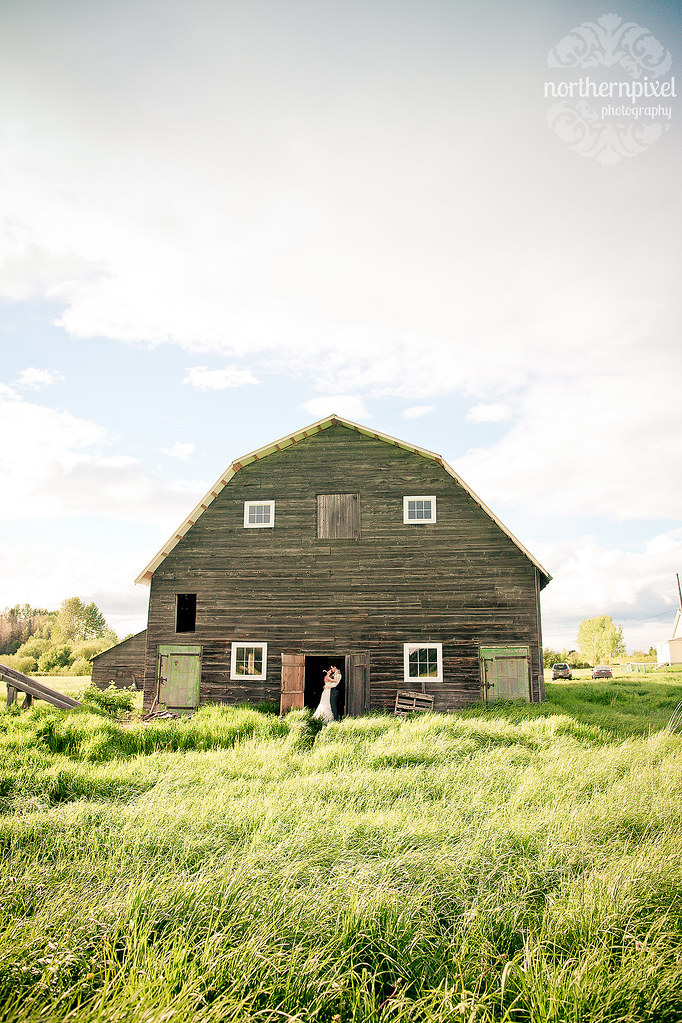 Wedding Photos at the Barn - Prince George BC