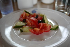 Lunch, first course: tomato salad