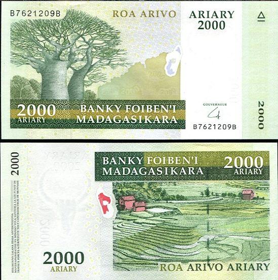 2000 Ariary Madagaskar 2008, Pick 90