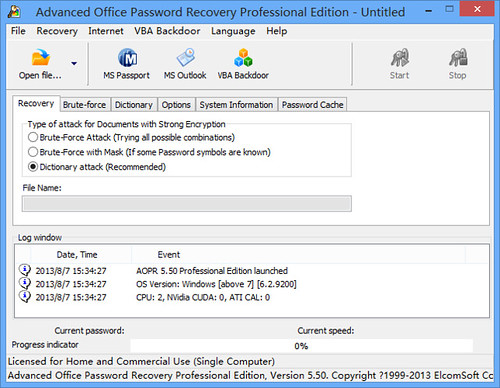 Advanced Office Password Recovery Professional Edition