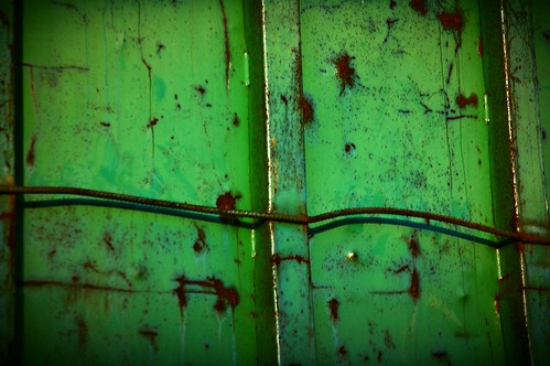 Rusted green metal surface texture by Wonderlane