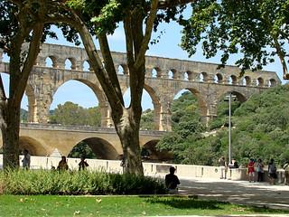038 Pont du Gard vanaf terras