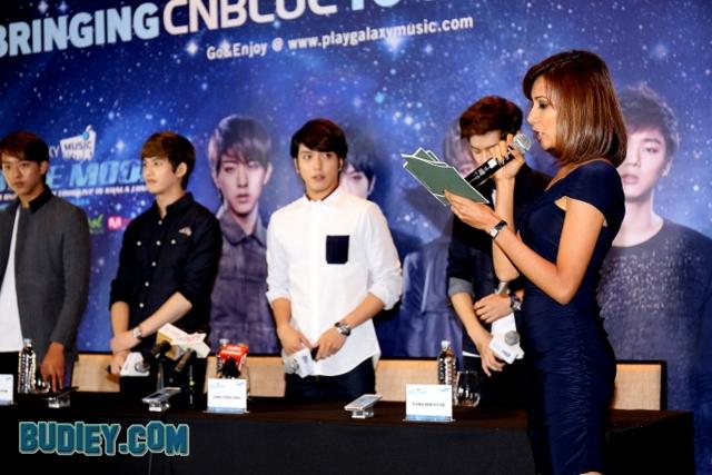 CNBlue Press Conference Malaysia Boice