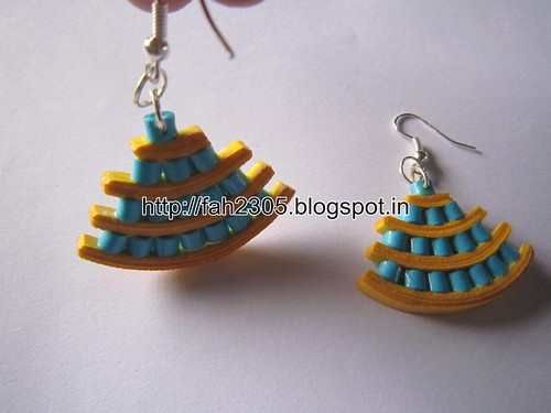 Handmade Jewelry - Paper Quilling Egyptian Style Earrings (2) by fah2305