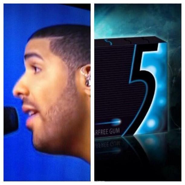 Drake's #HairLine #5Gum | Flickr - Photo Sharing!