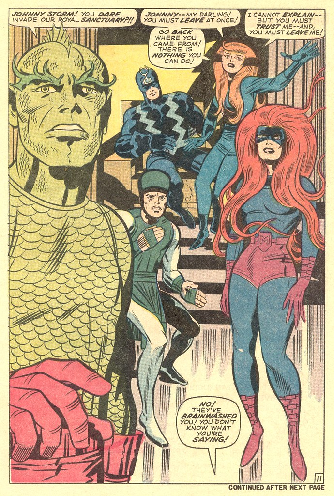 Fantastic Four 99 Inhumans splash 1970 Kirby