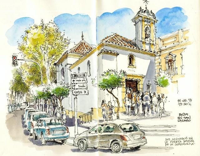 Málaga, iglesia de San Lázaro