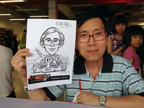 caricature live sketching for NTUC U Grand Prix Experience 2013 - 13